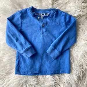 Janie & Jack | Boys Long Sleeve Henley Shirt • 3T